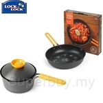Lock & Lock Cookplus Speedcook 18CM 1-Handle Pot + 24cm Frying Pan