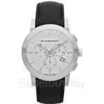 Burberry BU9355 Men's The City Black Leather Strap Watch