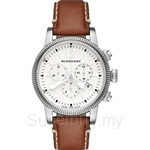 Burberry BU7817 Women's Utilitarian Chronograph Leather Strap Watch