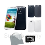 Samsung Galaxy S4 (16GB) Free Samsung Flip Cover + 8GB Micro SD + Screen Protector
