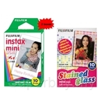 Fuji Instax Mini Film (2 boxes) + Instax Mini Film Stained Glass (1 box)