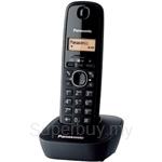Panasonic KX-TG1611ML Digital Cordless DECT Phone with 1 Handset - Black