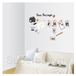 IR Travel Wall Deco Sticker  (50cmx70cm)