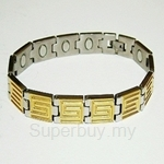 TTW 8383(G)  CRISS MAGNETIC BRACELET (Titanium For Ladies)
