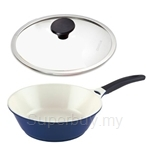 Lock & Lock 30cm Cookplus Ceramic Wok with Glass Lid