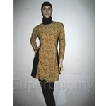 Al Ikhwah Slim Fit Full Cover Swimsuit (Baju Renang Muslimah)~Sporty Brown