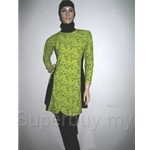 Al Ikhwah Slim Fit Full Cover Swimsuit (Baju Renang Muslimah)~Sporty Lime
