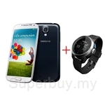 Samsung Galaxy S4 I9500 + Cookoo Bluetooth smart watch (Silver)