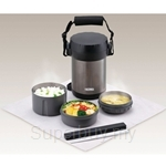 Thermos 1.80L Stainless Steel Ultra Light Black Food Container - JBG-1800