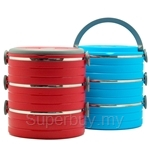 HOF 3 Layers Stainless Steel Thermal Lunch Box - BL1204-3