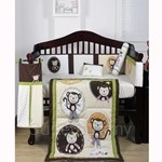Bumble Bee Natural Monkey Business 7 pieces Embroidery Crib Set - MB-01C