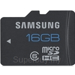Samsung Standard 16GB Micro SD Class 6 with Adapter - MB-MSAGBA-CN