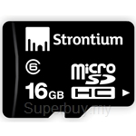 Strontium 16GB MicroSD Class 6 with Adapter - SR16GTFC6A