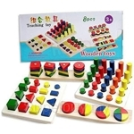 GeNz Kids Teaching Toy Montessori Teaching and Learning Kit 8 Sets