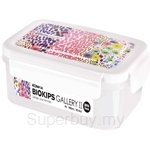 Komax 900ml Biokips Bubbles Series Gallery 2 R3 Rectangle White Airtight Container - 71977