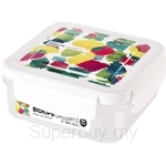 Komax 700ml Biokips Water Color Series Gallery 2 S2 Square White Airtight Container - 71974