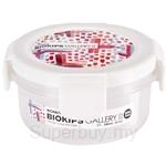 Komax 240ml Biokips Cross Series Gallery 2 C1 Circle White Airtight Container - 71970