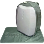 Simple Dimple White Shield Backpack with Changing Mat - SD04SH