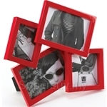 Umbra Mosh 4-Opening High-Glass Frame Red - 316090505