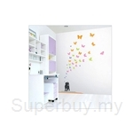 IR Animal Wall Deco Sticker - Butterfly & Cat (50cmx70cm)