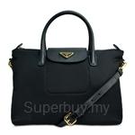 Prada Tessuto Saffiano Shoulder Bag Nero - BN2106