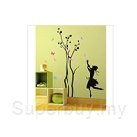 IR Tree Wall Deco Sticker - Girl & Tree (50cmx70cm)