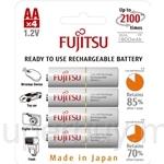 Fujitsu AA 2000mAh 4Pcs 2100 Times Cycle Rechargeable Batteries