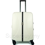 Travo 24 Inch Snow White Hard Case Trolley Luggage