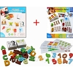 [Bundle Set] Kids Station British Card ABC + 123 Wooden Block