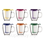 Bodum 0.35L Yoyo Mug With Tea Strainer - Assorted Colours