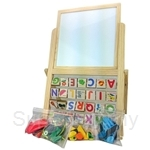 Dlittle Magnetic Black And White Board Learning Board (Detachable Board)