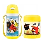 Thermos 360ml Angry Bird Ice Cold Bottle + 300ml Angry Bird Food Jar