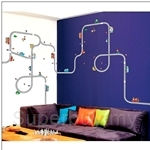 IR Kid's Room Wall Deco Sticker - Road & Cars (50cmx70cm)