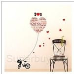 IR Kid's Room Wall Deco Sticker - I Love You (50cmx70cm)
