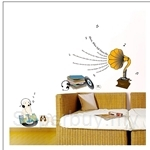 IR Kid's Room Wall Deco Sticker - Puppy & Music (50cmx70cm)