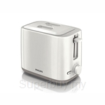 Philips Daily Collection Toaster (2 Slots, Compact, White Beige) - HD2595/09
