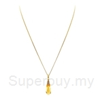 Poh Kong Beautiful Citrine Diamond Pendant in 18k Yellow Gold (without chain)-504372
