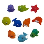 GeNz Kids 10 Sea Creatures Bath Toys - A04