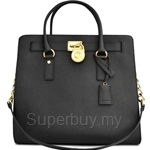 Michael Kors Hamilton Large Saffiano Leather Tote Black - 30S2GHMT3L