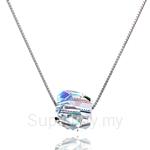Kelvin Gems Glam Disco Ball Pendant Necklace