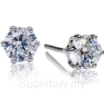 Kelvin Gems Premium 6 Prong Solitaire Stud Earrings
