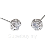 Kelvin Gems Premium Four Heart Stud Earrings