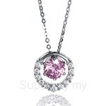 Kelvin Gems Premium Multiway Pendant Necklace Made with Pink Austrian Zirconia