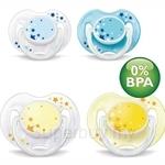 Philips Avent Soother Night Time BPA Free 0-6M Twin Pack - SCF176-18