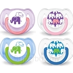 Philips Avent Soother Elephant Design (6-18 Month) Twin Pack - SCF195-30