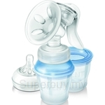 Philips Avent Natural Manual Breast Pump with Milk Storage Cups - SCF330-13