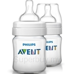 Philips Avent Classic Plus Bottle 4oz/125ml Twin Pack - SCF560-27