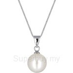 Kelvin Gems Lydia Shell Pearl Pendant Necklace Crafted by Angie