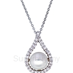 Kelvin Gems Premium Abella Fresh Water Pearl Pendant Necklace