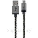 Cabstone Metal Micro USB Sync & Charging Round Cable 100cm